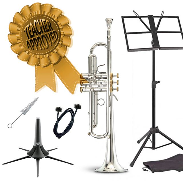 Stomvi Classica Bb Trumpet With Gold Trim Smart Choice Pack