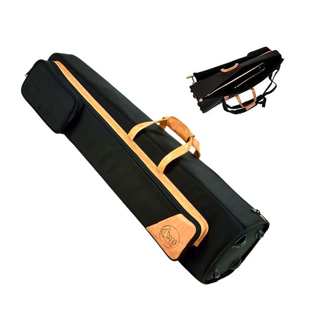 GARD ELITE TENOR TROMBONE GIG BAG NYLON WITH BROWN LEATHER TRIM