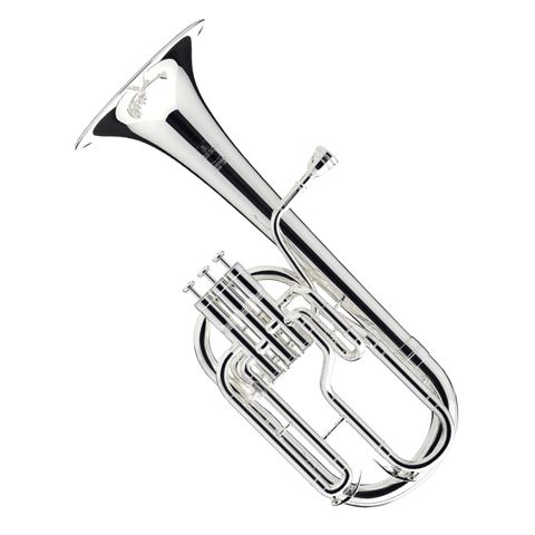 Besson Eb Sovereign Alto/Tenor Horn - Silver Plated
