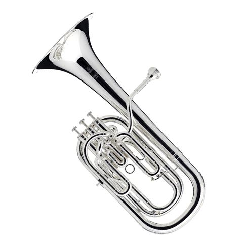 Besson Sovereign 3 Valve Compensating Baritone Horn - Silver Plated