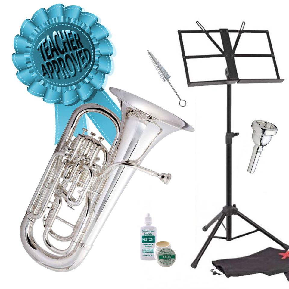 Cambridge Classic 4 Valve Compensating Euphonium Smart Choice Pack