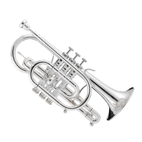 Stomvi Titan Bb Copper Bell Silverplate Cornet