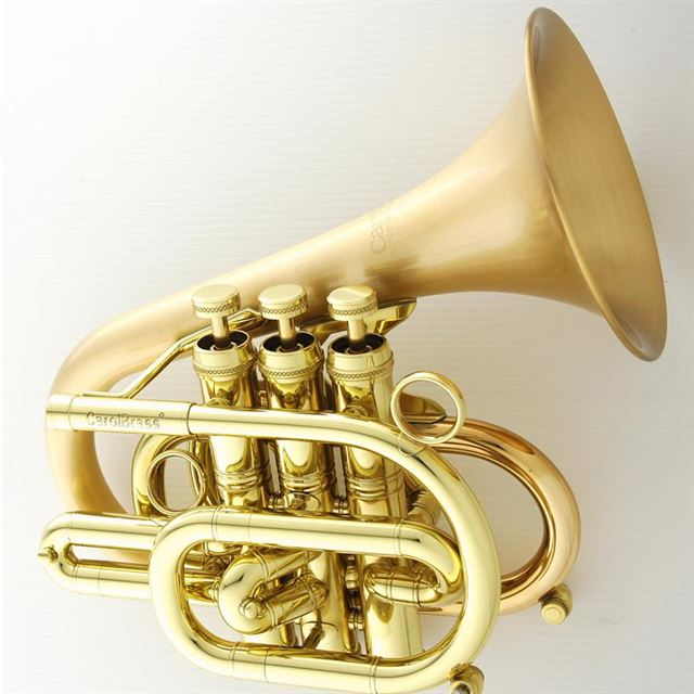 CAROL BRASS DIZZY BB POCKET TRUMPET